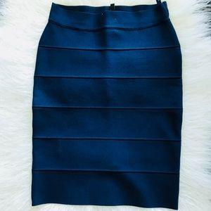 BcbgMaxAzria blue pencil skirt S